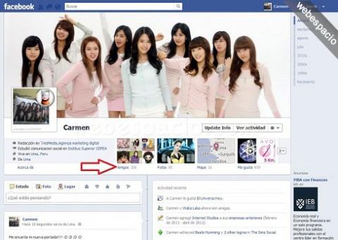 Ocultar facebook
