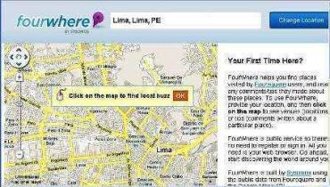 Conoce la ubicación de tus amigos de redes sociales con FourWhere.com