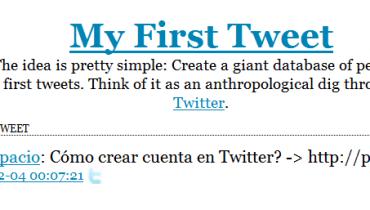 primer tweet