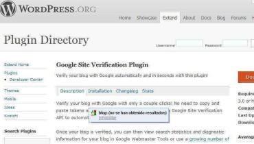 Nuevo plugin de Google para simplificar verificación de un blog en Wordpress