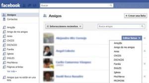 listas de amigos de facebook