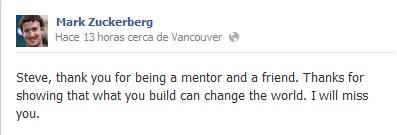 Steve Jobs Facebook