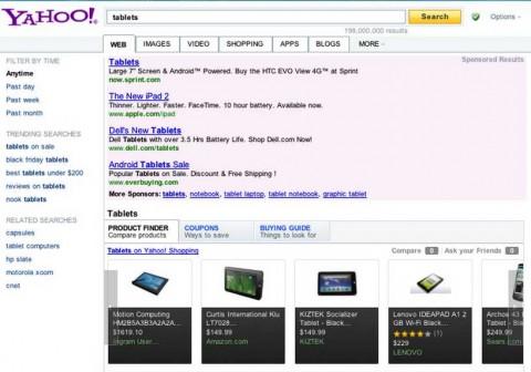 Yahoo lanza búsqueda interactiva para recetas, compras y entretenimiento