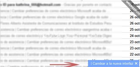 cambiar  nueva interfaz de gmail