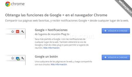 extensiones chrome para google plus