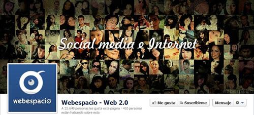 portada facebook de webespacio
