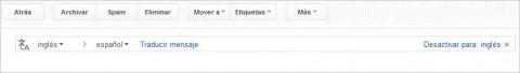 Gmail añade traductor para mensajes de correo