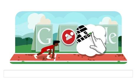 Google doodle dedicado a la carrera de vallas