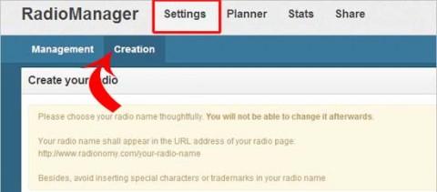 crear nueva  radio online