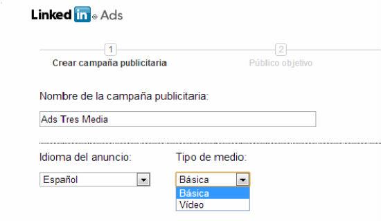 crear anuncio en linkedIn