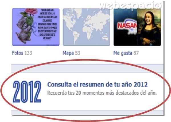 momentos destacados del 2012 con facebook