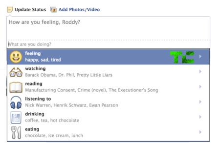 Facebook trae emoticones