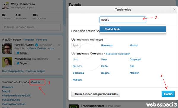 buscando tendencias en twitter
