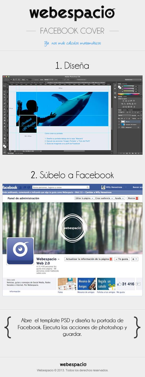 plantilla portada facebook psd