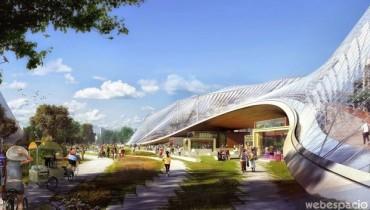 google campus futurista