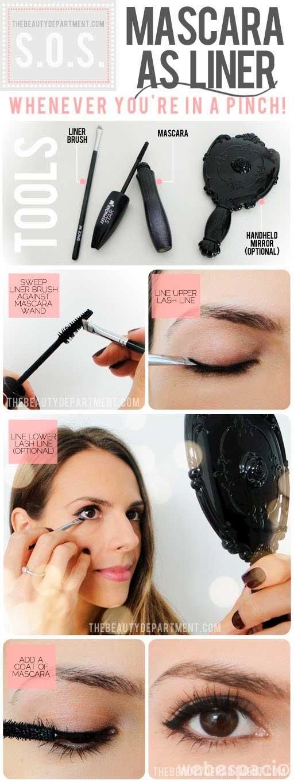 usa tu mascara de pestanas como delineador de ojos