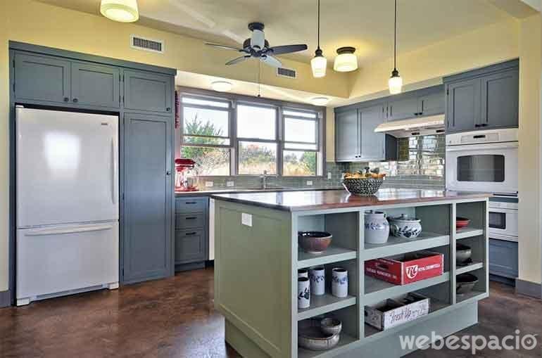mueble-de-cocina-azul-acero