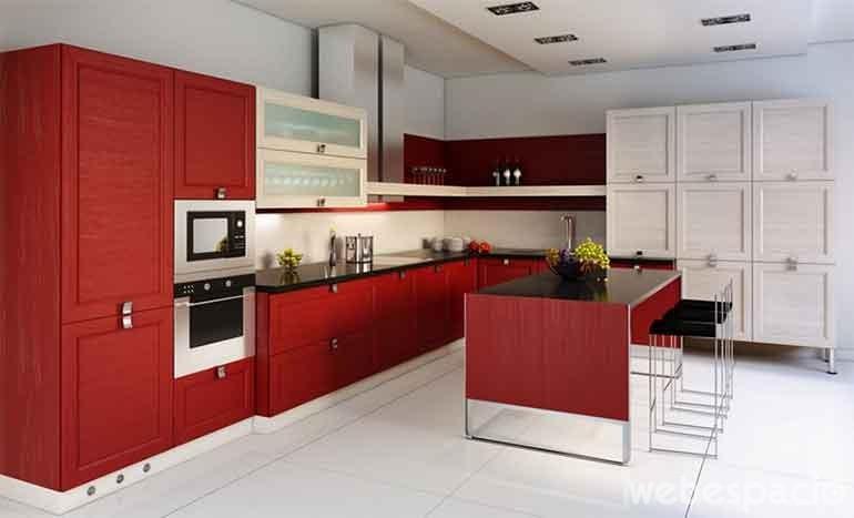 mueble de cocina-color-madera-rubi