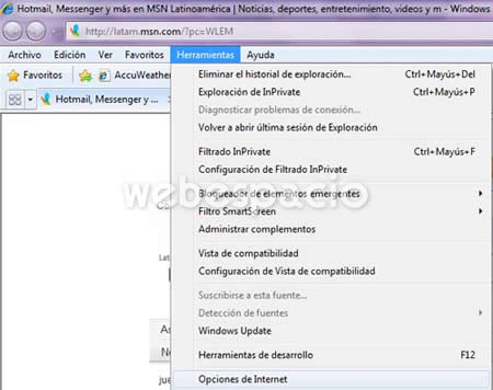 activar javascript internet explorer