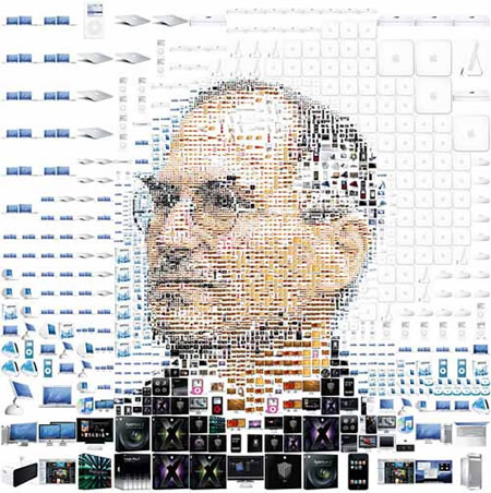 steve jobs collage