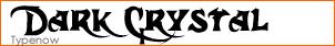 Dark Crystal Font