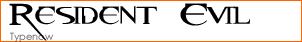 Resident Evil Font