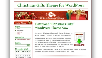 christmasgifts 40+ Themes WordPress con Motivos Navideños