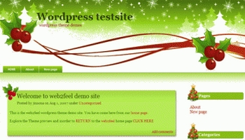 christmasgreen 40+ Themes WordPress con Motivos Navideños