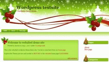 christmasgreen 40+ Themes WordPress con Motivos Navideños