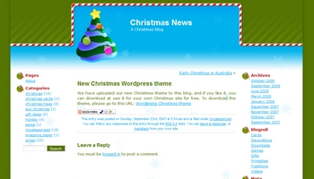 christmasnews 40+ Themes WordPress con Motivos Navideños