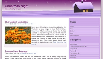 christmasnight 40+ Themes WordPress con Motivos Navideños