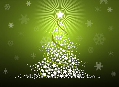 Stylized Christmas Tree Photoshop Tutorial