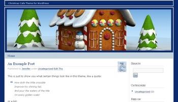 gingerbreadcafe 40+ Themes WordPress con Motivos Navideños