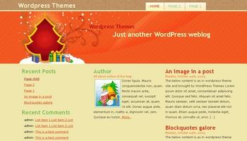 happychristmas 40+ Themes WordPress con Motivos Navideños