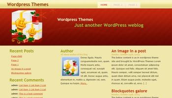 happyholidays 40+ Themes WordPress con Motivos Navideños