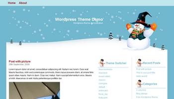hellosnowman 40+ Themes WordPress con Motivos Navideños