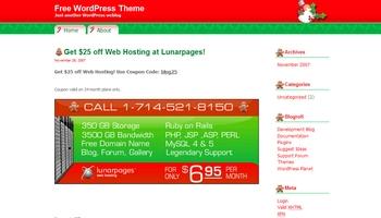 lunarpages 40+ Themes WordPress con Motivos Navideños