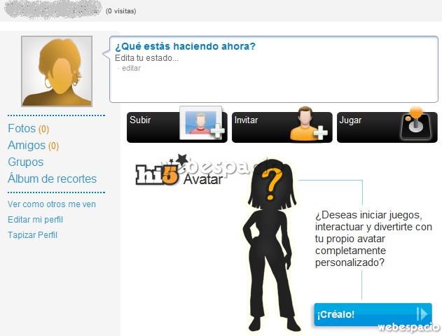 perfil de usuario en hi5