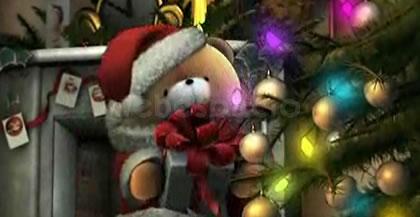 tarjeta navidad oso noel