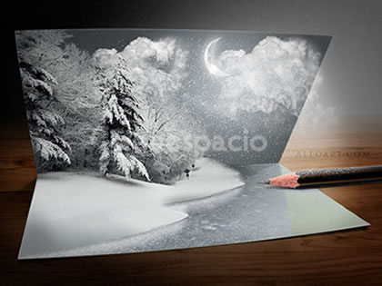 tutorial tarjeta navidad photoshop