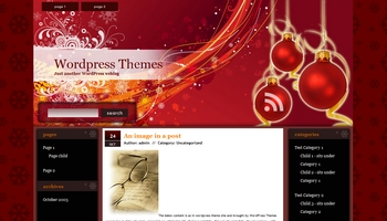 winterred 40+ Themes WordPress con Motivos Navideños
