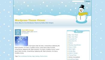 winterwonderland 40+ Themes WordPress con Motivos Navideños