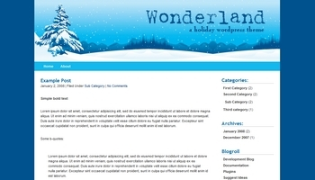 wonderland 40+ Themes WordPress con Motivos Navideños