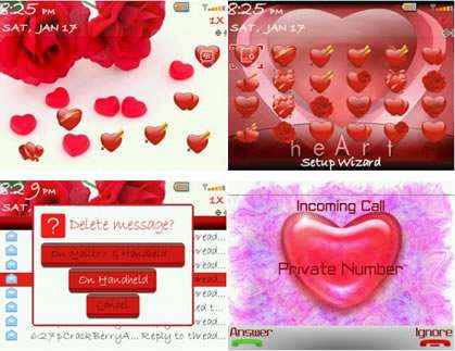 blackberry valentine theme