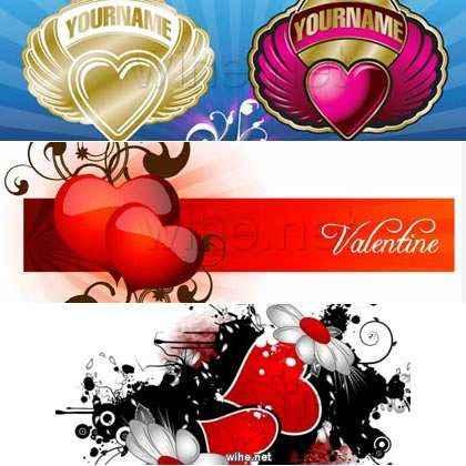 vectores san valentin