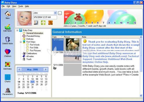 software diario bebe