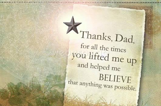 tarjeta gracias papa