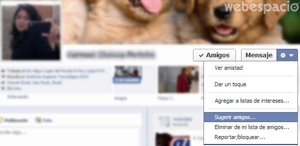 sugerir amigos facebook