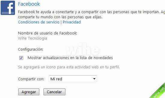 conectar facebook