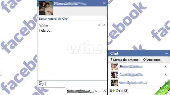 guardar conversaciones facebook chat